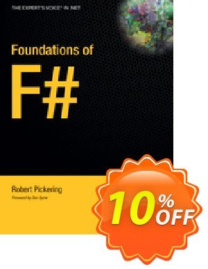 Foundations of F# (Pickering) 優惠券,折扣碼 Foundations of F# (Pickering) Deal,促銷代碼: Foundations of F# (Pickering) Exclusive Easter Sale offer for iVoicesoft