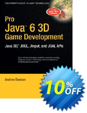Pro Java 6 3D Game Development (Davison) Coupon discount Pro Java 6 3D Game Development (Davison) Deal. Promotion: Pro Java 6 3D Game Development (Davison) Exclusive Easter Sale offer for iVoicesoft