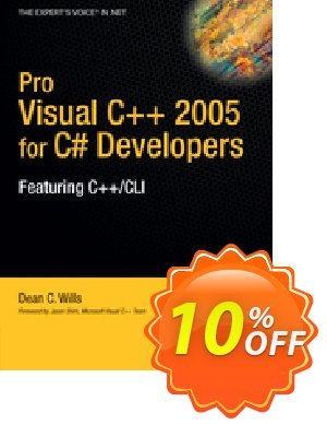 Pro Visual C++ 2005 for C# Developers (Wills) discount coupon Pro Visual C++ 2005 for C# Developers (Wills) Deal - Pro Visual C++ 2005 for C# Developers (Wills) Exclusive Easter Sale offer for iVoicesoft