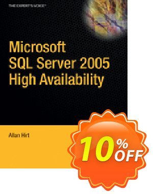 Pro SQL Server 2005 High Availability (Hirt) discount coupon Pro SQL Server 2005 High Availability (Hirt) Deal - Pro SQL Server 2005 High Availability (Hirt) Exclusive Easter Sale offer for iVoicesoft