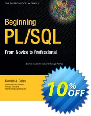 Beginning PL/SQL (Bales) discount coupon Beginning PL/SQL (Bales) Deal - Beginning PL/SQL (Bales) Exclusive Easter Sale offer for iVoicesoft