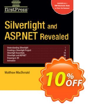Silverlight and ASP.NET Revealed (MacDonald) 優惠券,折扣碼 Silverlight and ASP.NET Revealed (MacDonald) Deal,促銷代碼: Silverlight and ASP.NET Revealed (MacDonald) Exclusive Easter Sale offer for iVoicesoft