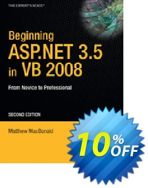 Beginning ASP.NET 3.5 in VB 2008 (MacDonald) 프로모션 코드 Beginning ASP.NET 3.5 in VB 2008 (MacDonald) Deal 프로모션: Beginning ASP.NET 3.5 in VB 2008 (MacDonald) Exclusive Easter Sale offer for iVoicesoft