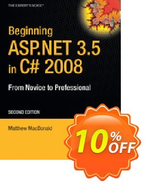Beginning ASP.NET 3.5 in C# 2008 (MacDonald) 프로모션 코드 Beginning ASP.NET 3.5 in C# 2008 (MacDonald) Deal 프로모션: Beginning ASP.NET 3.5 in C# 2008 (MacDonald) Exclusive Easter Sale offer for iVoicesoft