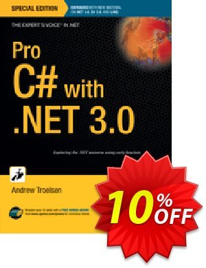 Pro C# with .NET 3.0, Special Edition (Troelsen) Coupon discount Pro C# with .NET 3.0, Special Edition (Troelsen) Deal. Promotion: Pro C# with .NET 3.0, Special Edition (Troelsen) Exclusive Easter Sale offer for iVoicesoft