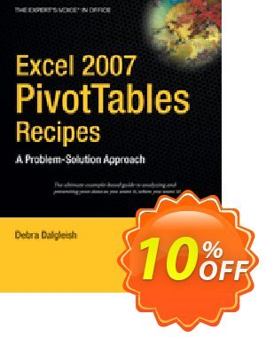 Excel 2007 PivotTables Recipes (Dalgleish) 프로모션 코드 Excel 2007 PivotTables Recipes (Dalgleish) Deal 프로모션: Excel 2007 PivotTables Recipes (Dalgleish) Exclusive Easter Sale offer for iVoicesoft
