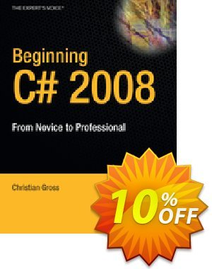 Beginning C# 2008 (Gross) discount coupon Beginning C# 2008 (Gross) Deal - Beginning C# 2008 (Gross) Exclusive Easter Sale offer for iVoicesoft