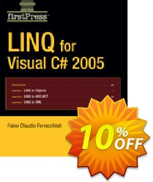 LINQ for Visual C# 2005 (Ferracchiati) discount coupon LINQ for Visual C# 2005 (Ferracchiati) Deal - LINQ for Visual C# 2005 (Ferracchiati) Exclusive Easter Sale offer for iVoicesoft