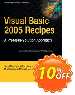 Visual Basic 2005 Recipes (Rajan) 프로모션 코드 Visual Basic 2005 Recipes (Rajan) Deal 프로모션: Visual Basic 2005 Recipes (Rajan) Exclusive Easter Sale offer for iVoicesoft