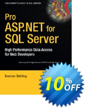 Pro ASP.NET for SQL Server (Stehling) discount coupon Pro ASP.NET for SQL Server (Stehling) Deal - Pro ASP.NET for SQL Server (Stehling) Exclusive Easter Sale offer for iVoicesoft