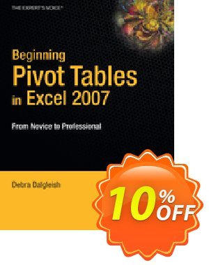 Beginning PivotTables in Excel 2007 (Dalgleish) discount coupon Beginning PivotTables in Excel 2007 (Dalgleish) Deal - Beginning PivotTables in Excel 2007 (Dalgleish) Exclusive Easter Sale offer for iVoicesoft