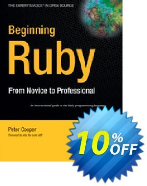 Beginning Ruby (Cooper) 프로모션 코드 Beginning Ruby (Cooper) Deal 프로모션: Beginning Ruby (Cooper) Exclusive Easter Sale offer for iVoicesoft