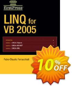 LINQ for VB 2005 (Ferracchiati) discount coupon LINQ for VB 2005 (Ferracchiati) Deal - LINQ for VB 2005 (Ferracchiati) Exclusive Easter Sale offer for iVoicesoft