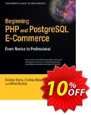 Beginning PHP and PostgreSQL E-Commerce (Darie) 프로모션 코드 Beginning PHP and PostgreSQL E-Commerce (Darie) Deal 프로모션: Beginning PHP and PostgreSQL E-Commerce (Darie) Exclusive Easter Sale offer for iVoicesoft