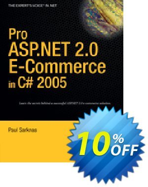 Pro ASP.NET 2.0 E-Commerce in C# 2005 (Sarknas) Coupon discount Pro ASP.NET 2.0 E-Commerce in C# 2005 (Sarknas) Deal. Promotion: Pro ASP.NET 2.0 E-Commerce in C# 2005 (Sarknas) Exclusive Easter Sale offer for iVoicesoft
