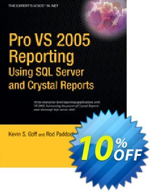 Pro VS 2005 Reporting using SQL Server and Crystal Reports (Paddock) discount coupon Pro VS 2005 Reporting using SQL Server and Crystal Reports (Paddock) Deal - Pro VS 2005 Reporting using SQL Server and Crystal Reports (Paddock) Exclusive Easter Sale offer for iVoicesoft