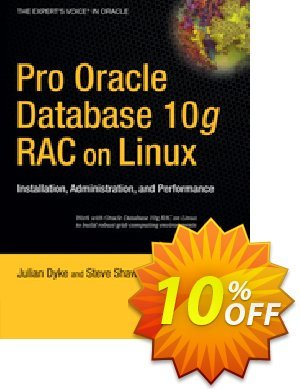 Pro Oracle Database 10g RAC on Linux (Shaw) 優惠券,折扣碼 Pro Oracle Database 10g RAC on Linux (Shaw) Deal,促銷代碼: Pro Oracle Database 10g RAC on Linux (Shaw) Exclusive Easter Sale offer for iVoicesoft