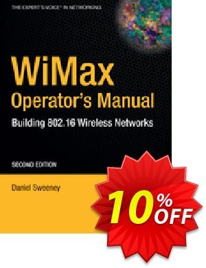 WiMax Operator's Manual (Sweeney) 優惠券,折扣碼 WiMax Operator's Manual (Sweeney) Deal,促銷代碼: WiMax Operator's Manual (Sweeney) Exclusive Easter Sale offer for iVoicesoft