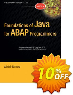 Foundations of Java for ABAP Programmers (Rooney) discount coupon Foundations of Java for ABAP Programmers (Rooney) Deal - Foundations of Java for ABAP Programmers (Rooney) Exclusive Easter Sale offer for iVoicesoft