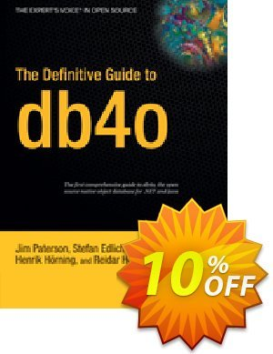 The Definitive Guide to db4o (Paterson) discount coupon The Definitive Guide to db4o (Paterson) Deal - The Definitive Guide to db4o (Paterson) Exclusive Easter Sale offer for iVoicesoft