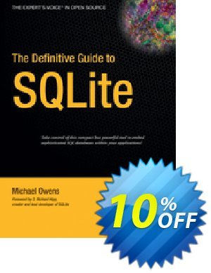 The Definitive Guide to SQLite (Owens) discount coupon The Definitive Guide to SQLite (Owens) Deal - The Definitive Guide to SQLite (Owens) Exclusive Easter Sale offer for iVoicesoft