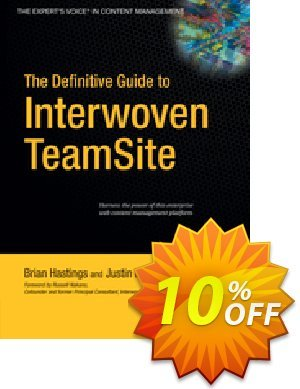 The Definitive Guide to Interwoven TeamSite (Hastings) discount coupon The Definitive Guide to Interwoven TeamSite (Hastings) Deal - The Definitive Guide to Interwoven TeamSite (Hastings) Exclusive Easter Sale offer for iVoicesoft