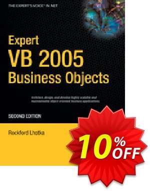 Expert VB 2005 Business Objects (Lhotka) discount coupon Expert VB 2005 Business Objects (Lhotka) Deal - Expert VB 2005 Business Objects (Lhotka) Exclusive Easter Sale offer for iVoicesoft