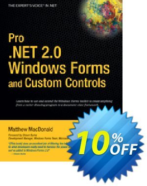 Pro .NET 2.0 Windows Forms and Custom Controls in C# (MacDonald) discount coupon Pro .NET 2.0 Windows Forms and Custom Controls in C# (MacDonald) Deal - Pro .NET 2.0 Windows Forms and Custom Controls in C# (MacDonald) Exclusive Easter Sale offer for iVoicesoft