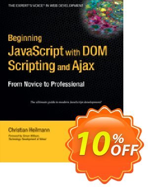 Beginning JavaScript with DOM Scripting and Ajax (Heilmann)割引コード・Beginning JavaScript with DOM Scripting and Ajax (Heilmann) Deal キャンペーン:Beginning JavaScript with DOM Scripting and Ajax (Heilmann) Exclusive Easter Sale offer for iVoicesoft