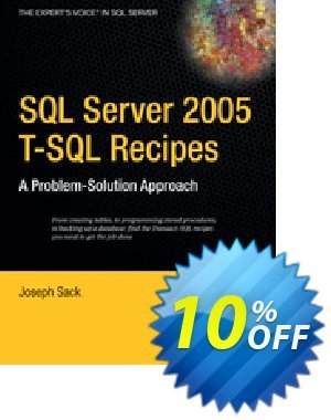 SQL Server 2005 T-SQL Recipes (Sack) discount coupon SQL Server 2005 T-SQL Recipes (Sack) Deal - SQL Server 2005 T-SQL Recipes (Sack) Exclusive Easter Sale offer for iVoicesoft