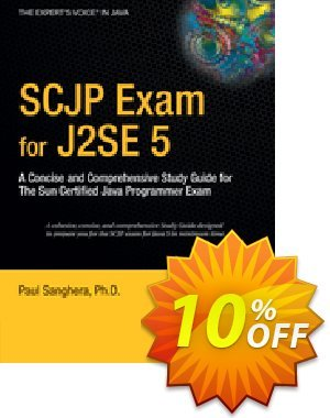 SCJP Exam for J2SE 5 (Sanghera) 優惠券,折扣碼 SCJP Exam for J2SE 5 (Sanghera) Deal,促銷代碼: SCJP Exam for J2SE 5 (Sanghera) Exclusive Easter Sale offer for iVoicesoft