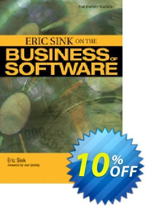 Eric Sink on the Business of Software (Sink) discount coupon Eric Sink on the Business of Software (Sink) Deal - Eric Sink on the Business of Software (Sink) Exclusive Easter Sale offer for iVoicesoft