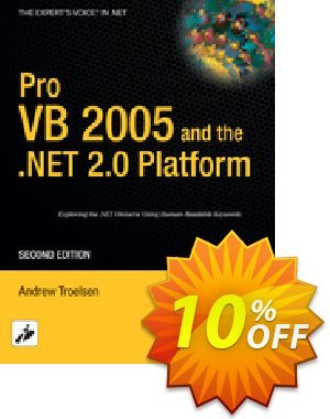 Pro VB 2005 and the .NET 2.0 Platform (Troelsen) discount coupon Pro VB 2005 and the .NET 2.0 Platform (Troelsen) Deal - Pro VB 2005 and the .NET 2.0 Platform (Troelsen) Exclusive Easter Sale offer for iVoicesoft