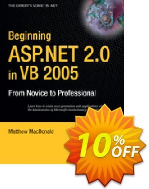 Beginning ASP.NET 2.0 in VB 2005 (MacDonald) Coupon discount Beginning ASP.NET 2.0 in VB 2005 (MacDonald) Deal. Promotion: Beginning ASP.NET 2.0 in VB 2005 (MacDonald) Exclusive Easter Sale offer for iVoicesoft