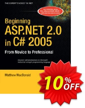 Beginning ASP.NET 2.0 in C# 2005 (MacDonald) discount coupon Beginning ASP.NET 2.0 in C# 2005 (MacDonald) Deal - Beginning ASP.NET 2.0 in C# 2005 (MacDonald) Exclusive Easter Sale offer for iVoicesoft