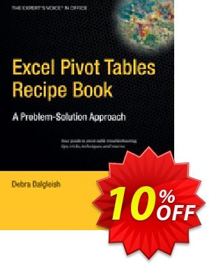 Excel Pivot Tables Recipe Book (Dalgleish) discount coupon Excel Pivot Tables Recipe Book (Dalgleish) Deal - Excel Pivot Tables Recipe Book (Dalgleish) Exclusive Easter Sale offer for iVoicesoft