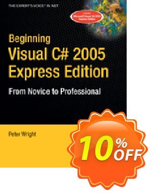 Beginning Visual C# 2005 Express Edition (Wright) discount coupon Beginning Visual C# 2005 Express Edition (Wright) Deal - Beginning Visual C# 2005 Express Edition (Wright) Exclusive Easter Sale offer for iVoicesoft