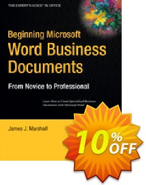 Beginning Microsoft Word Business Documents (Marshall) 프로모션 코드 Beginning Microsoft Word Business Documents (Marshall) Deal 프로모션: Beginning Microsoft Word Business Documents (Marshall) Exclusive Easter Sale offer for iVoicesoft