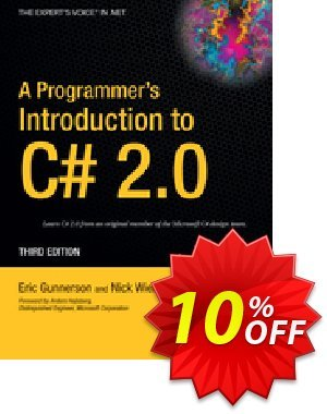 A Programmer's Introduction to C# 2.0 (Gunnerson) Coupon, discount A Programmer's Introduction to C# 2.0 (Gunnerson) Deal. Promotion: A Programmer's Introduction to C# 2.0 (Gunnerson) Exclusive Easter Sale offer for iVoicesoft