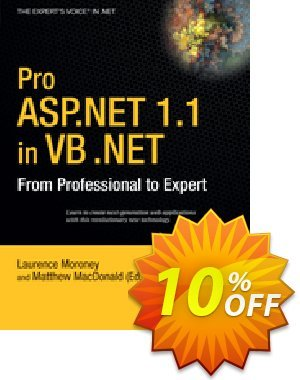 Pro ASP.NET 1.1 in VB .NET (Moroney) Coupon discount Pro ASP.NET 1.1 in VB .NET (Moroney) Deal. Promotion: Pro ASP.NET 1.1 in VB .NET (Moroney) Exclusive Easter Sale offer for iVoicesoft