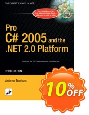 Pro C# 2005 and the .NET 2.0 Platform (Troelsen) Coupon, discount Pro C# 2005 and the .NET 2.0 Platform (Troelsen) Deal. Promotion: Pro C# 2005 and the .NET 2.0 Platform (Troelsen) Exclusive Easter Sale offer for iVoicesoft