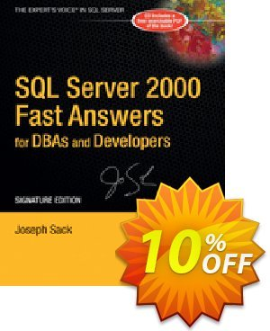 SQL Server 2000 Fast Answers for DBAs and Developers, Signature Edition (Sack) discount coupon SQL Server 2000 Fast Answers for DBAs and Developers, Signature Edition (Sack) Deal - SQL Server 2000 Fast Answers for DBAs and Developers, Signature Edition (Sack) Exclusive Easter Sale offer for iVoicesoft