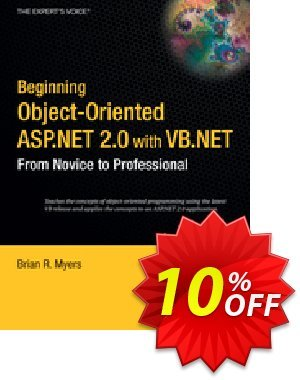 Beginning Object-Oriented ASP.NET 2.0 with VB .NET (Myers) discount coupon Beginning Object-Oriented ASP.NET 2.0 with VB .NET (Myers) Deal - Beginning Object-Oriented ASP.NET 2.0 with VB .NET (Myers) Exclusive Easter Sale offer for iVoicesoft