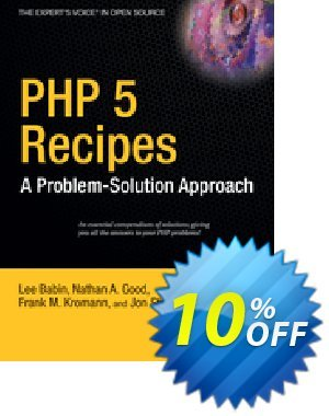 PHP 5 Recipes (Kromann) discount coupon PHP 5 Recipes (Kromann) Deal - PHP 5 Recipes (Kromann) Exclusive Easter Sale offer for iVoicesoft
