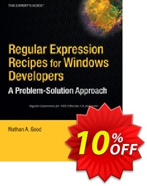 Regular Expression Recipes for Windows Developers (Good) discount coupon Regular Expression Recipes for Windows Developers (Good) Deal - Regular Expression Recipes for Windows Developers (Good) Exclusive Easter Sale offer for iVoicesoft