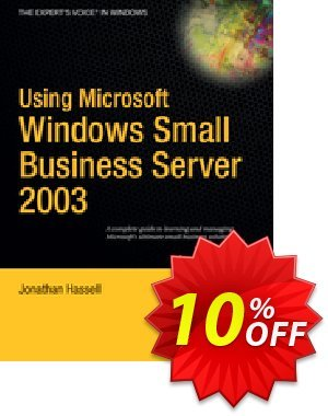 Using Microsoft Windows Small Business Server 2003 (Hassell) 프로모션 코드 Using Microsoft Windows Small Business Server 2003 (Hassell) Deal 프로모션: Using Microsoft Windows Small Business Server 2003 (Hassell) Exclusive Easter Sale offer for iVoicesoft