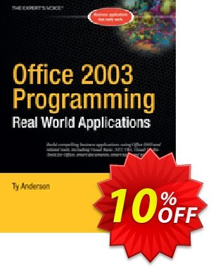 Office 2003 Programming (Anderson) discount coupon Office 2003 Programming (Anderson) Deal - Office 2003 Programming (Anderson) Exclusive Easter Sale offer for iVoicesoft