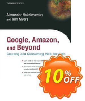 Google, Amazon, and Beyond: Creating and Consuming Web Services (Nakhimovsky) discount coupon Google, Amazon, and Beyond: Creating and Consuming Web Services (Nakhimovsky) Deal - Google, Amazon, and Beyond: Creating and Consuming Web Services (Nakhimovsky) Exclusive Easter Sale offer for iVoicesoft