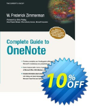 Complete Guide to OneNote (Zimmerman) 프로모션 코드 Complete Guide to OneNote (Zimmerman) Deal 프로모션: Complete Guide to OneNote (Zimmerman) Exclusive Easter Sale offer for iVoicesoft