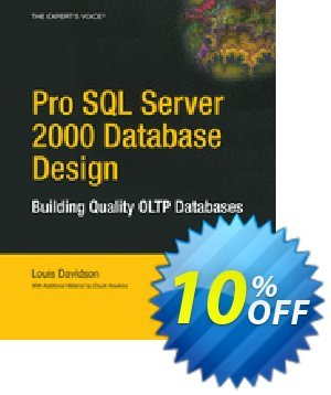 Pro SQL Server 2000 Database Design (Davidson) discount coupon Pro SQL Server 2000 Database Design (Davidson) Deal - Pro SQL Server 2000 Database Design (Davidson) Exclusive Easter Sale offer for iVoicesoft
